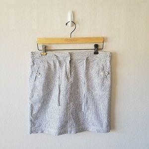 Seersucker Linen Skirt 8